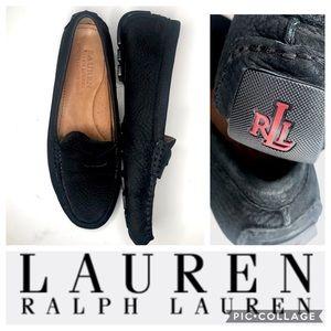 Lauren Ralph Lauren Penny Loafers Black Leather